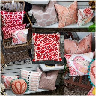 Pink & Red Pillows