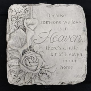 Because someone we love is in Heaven Memorial Stone - Square